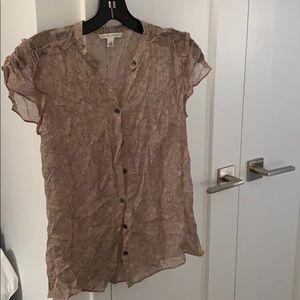 Banana Republic short sleeve printed blouse